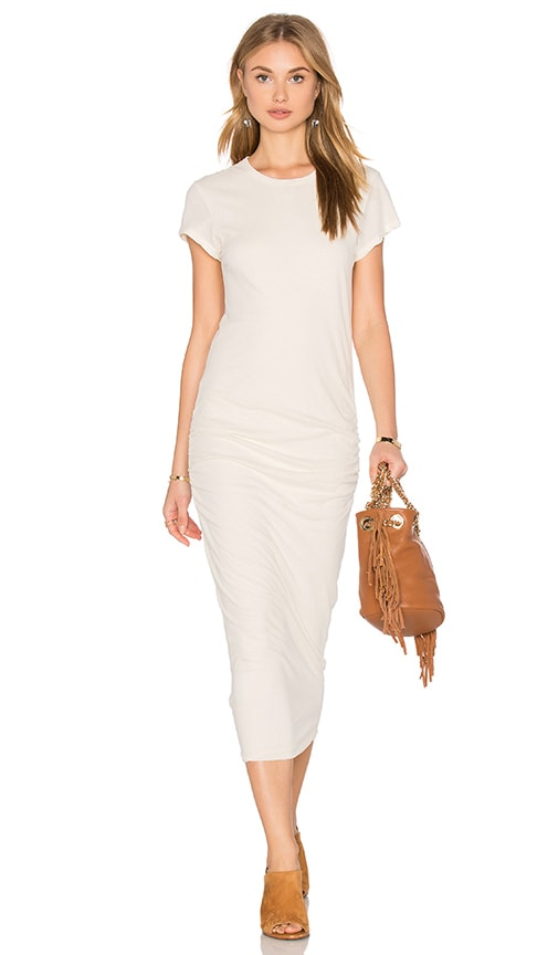 James Perse Classic Skinny Dress in Ivory