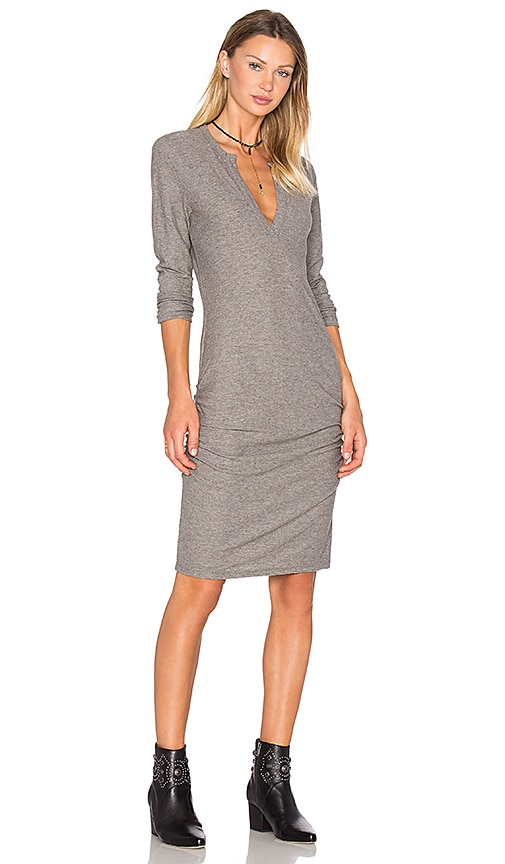 James Perse Henley Dress in Gray