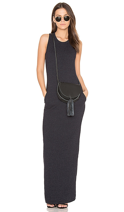 James Perse Sleeveless Maxi Dress in Navy