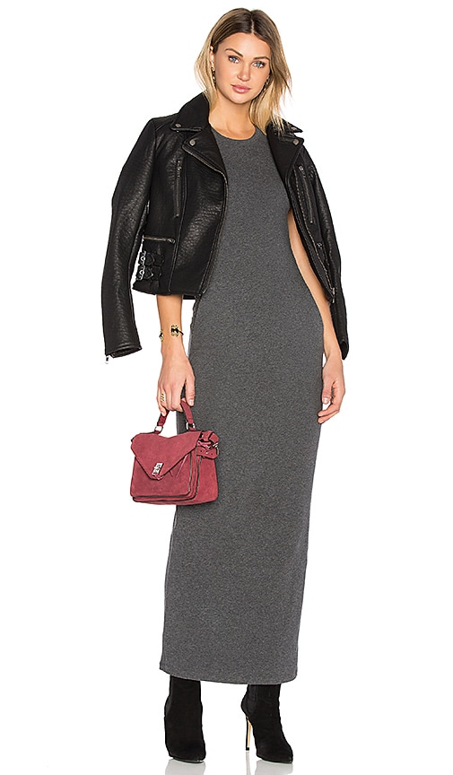 James Perse Sleeveless Maxi Dress in Charcoal