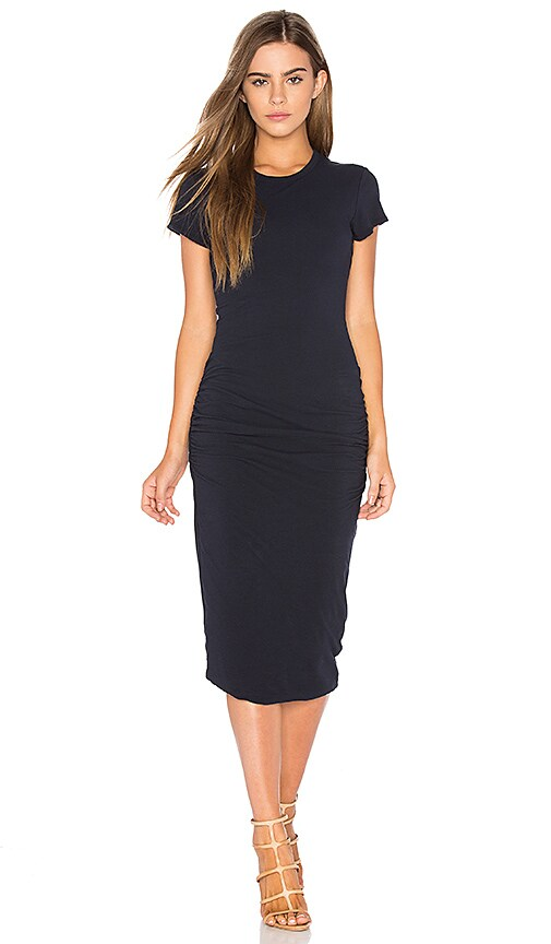 James Perse Classic Skinny Dress in Navy