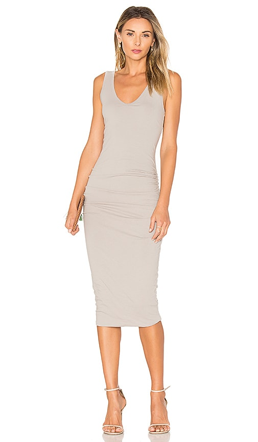 James Perse Skinny Tank Dress in Gray