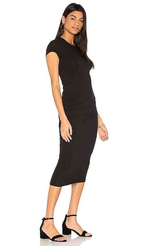James Perse Classic Skinny Dress in Black
