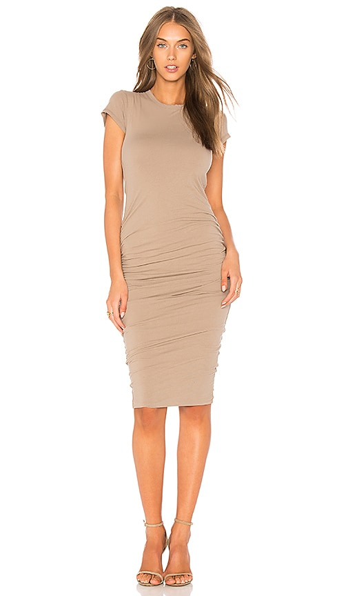 James Perse Classic Skinny Dress in Taupe