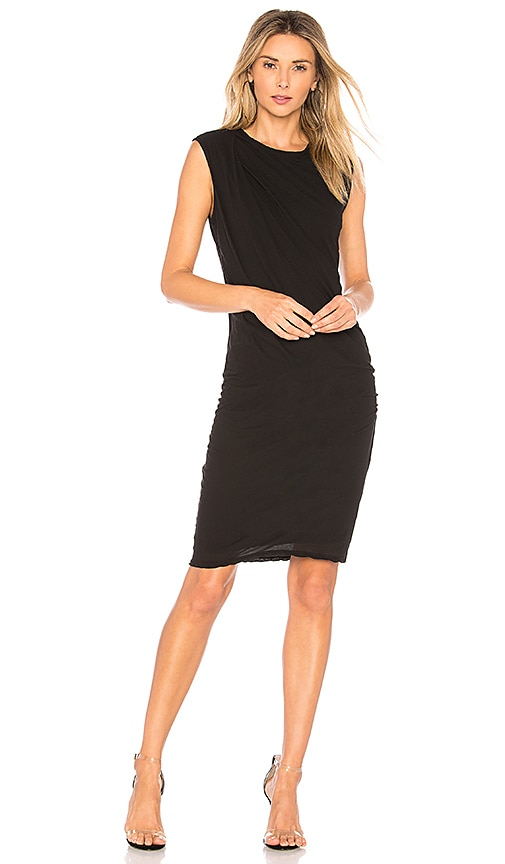 James Perse Nomad Draped Dress in Black