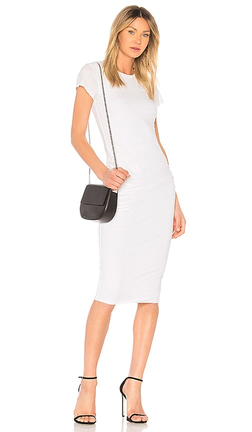 James Perse Classic Skinny Dress in White