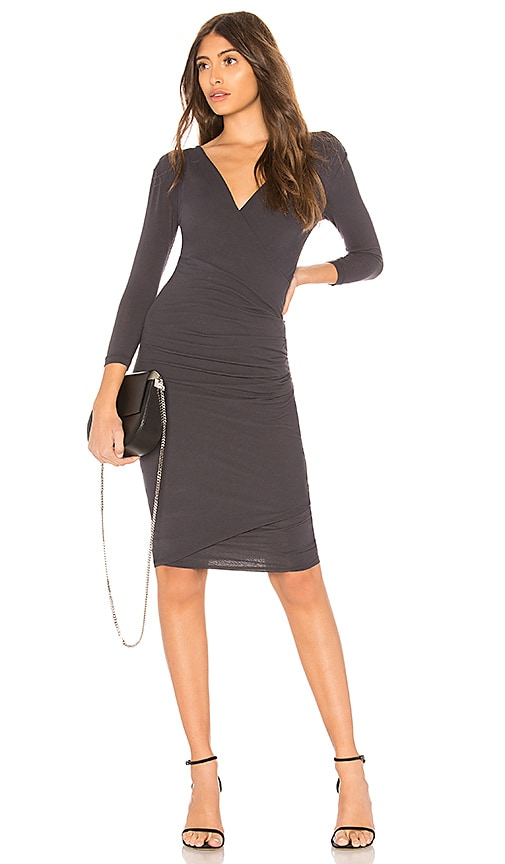 James Perse Skinny Wrap Dress in Navy