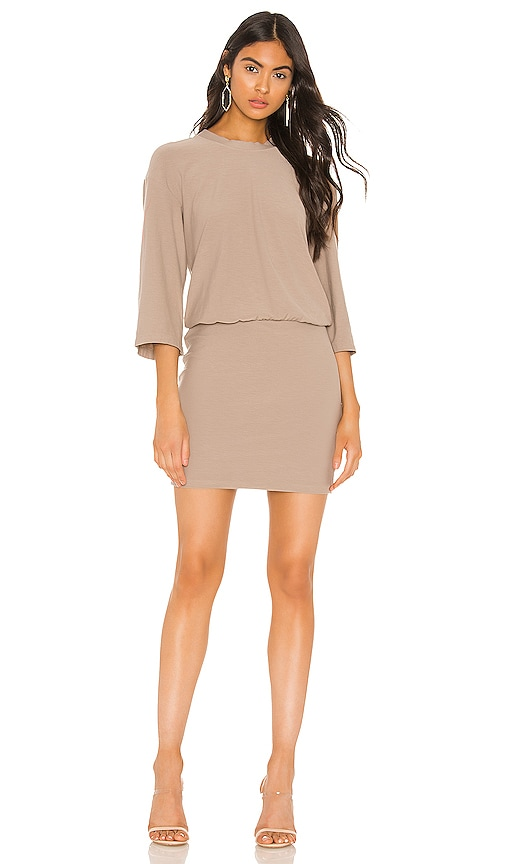 Drop 3/4 Sleeve Blouson Dress by James Perse