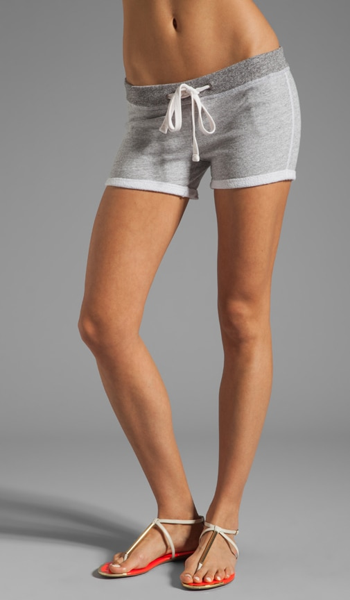 Contrast Waist Fleece Short