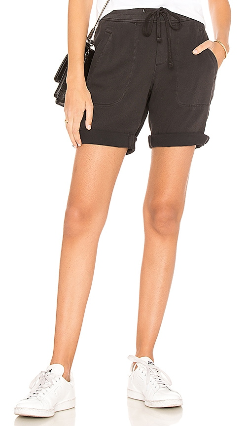 James Perse Soft Drape Utility Short in Black