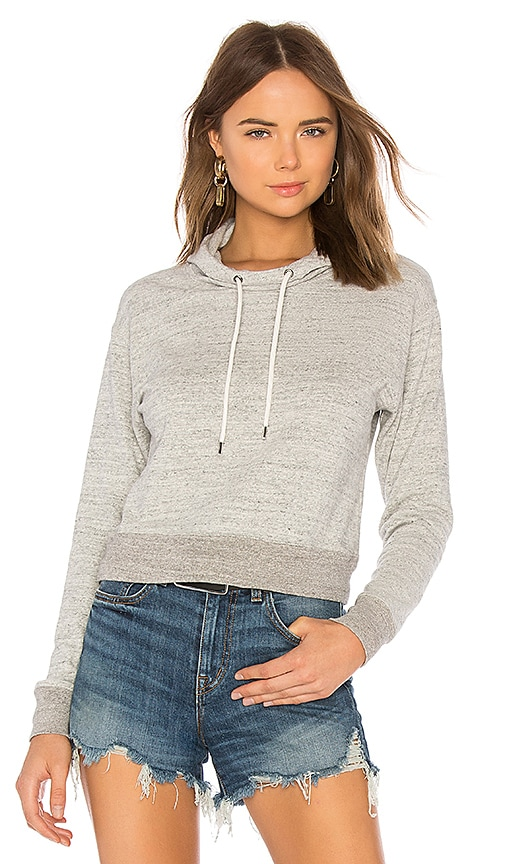 James Perse Shrunken Sweatshirt in Gray