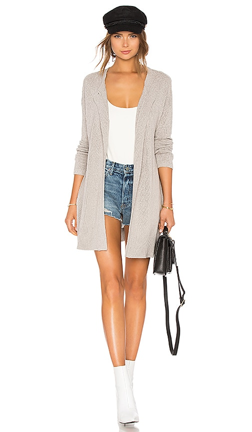 James Perse Drop Shoulder Cardigan in Gray