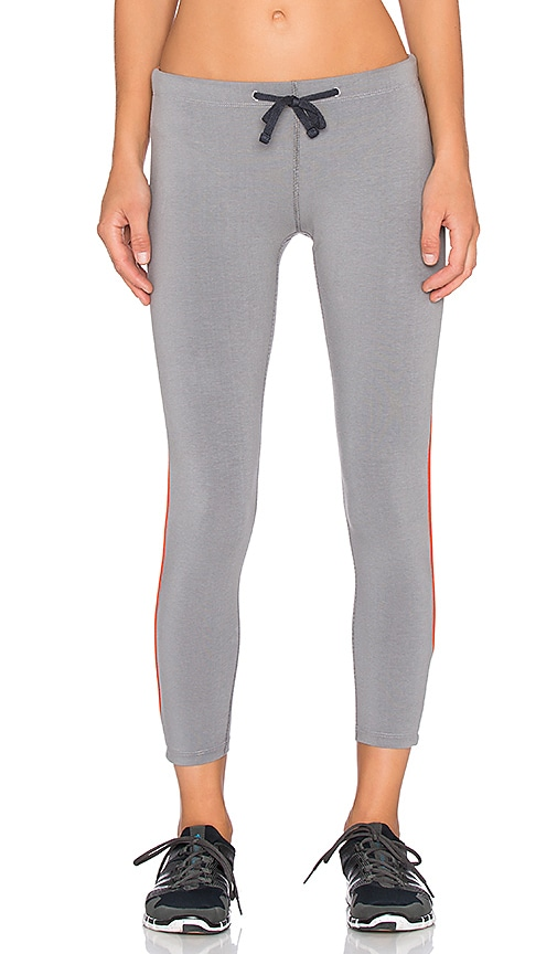 James Perse Yosemite Stripe Yoga Pant in Olympic & Orange
