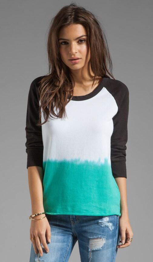 Dip Dye Raw Edge Pullover