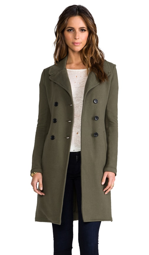 Long Fleece Military Coat