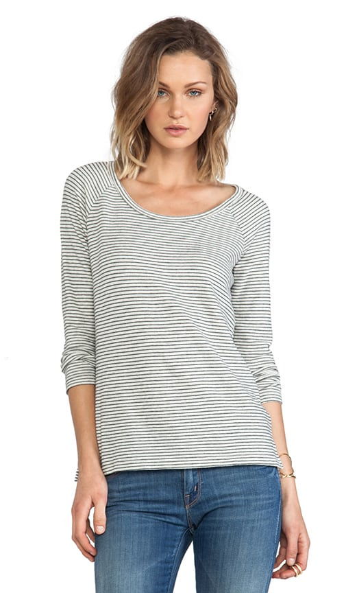 Mini Stripe Raglan Pullover