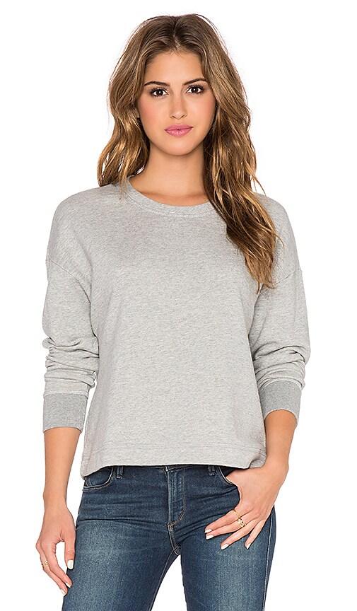 James Perse Cut Edge Sweatshirt in Heather Grey