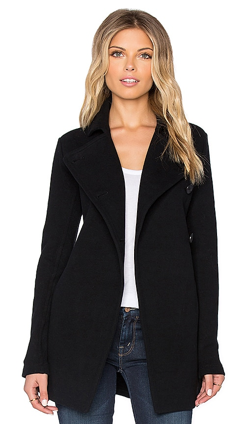 James Perse Asymmetrical Military Jacket in Black