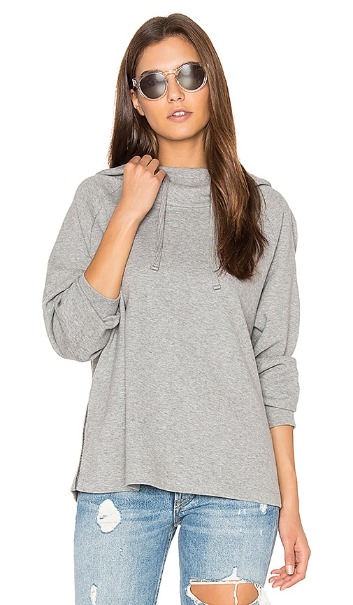 James Perse Oversized Hoodie in Gray