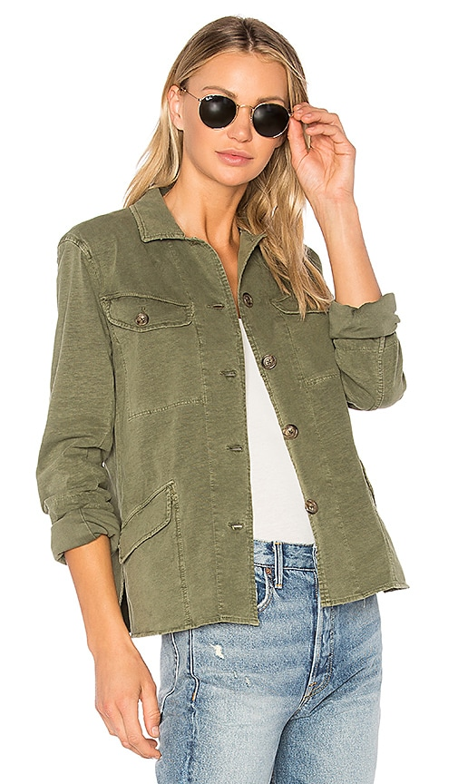 James Perse Easy Fit Surplus Jacket in Green