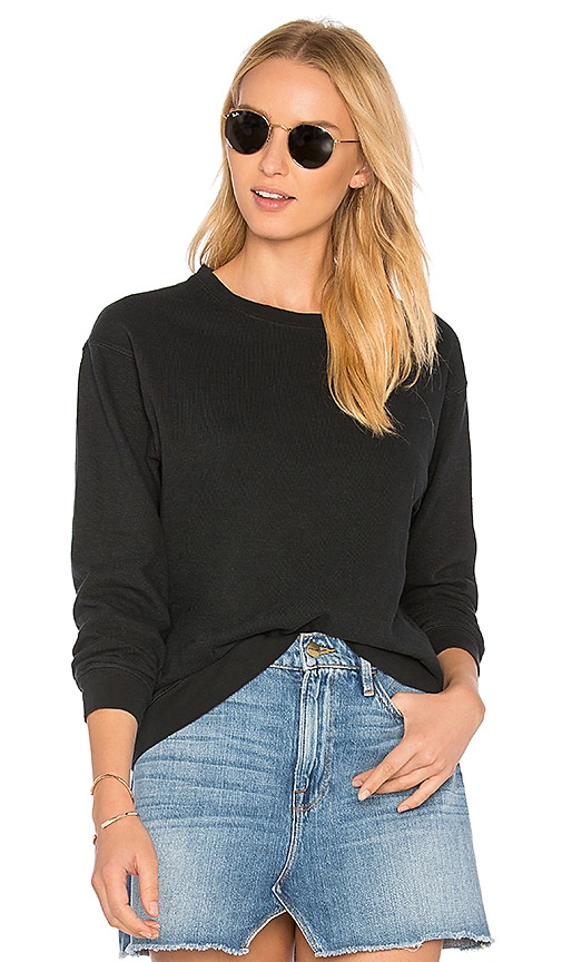 James Perse Vintage Sweatshirt in Black
