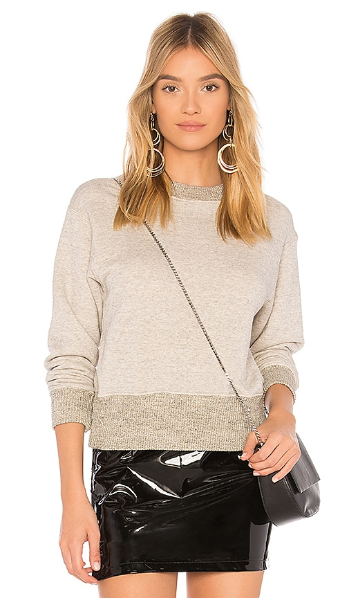 James Perse Plush Sweatshirt in Light Gray