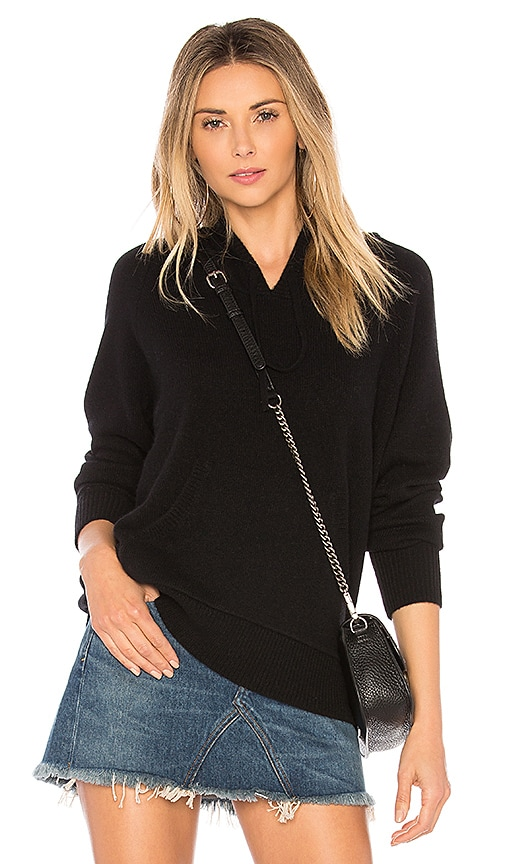 James Perse Cashmere Hoodie in Black