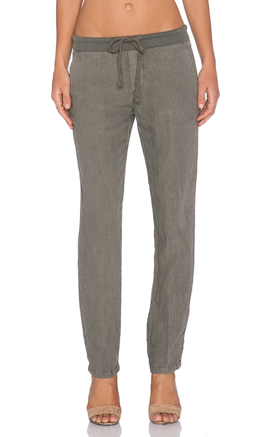 James Perse Linen Chino Pant in Marjoram
