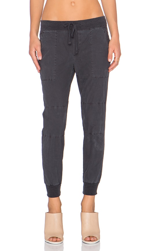 James Perse Parachute Utility Pant in Carbon