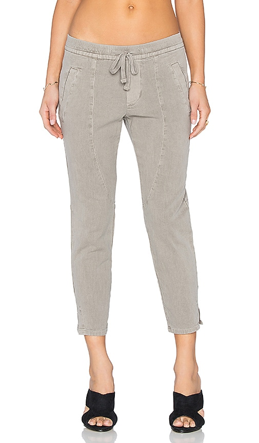 James Perse Cropped Ankle Split Pant in Shadow