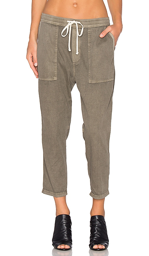 James Perse Relaxed Twill Pant in Olive