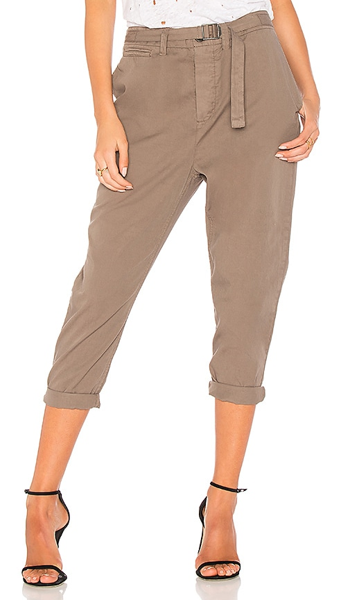James Perse Belt Front Voluminous Pant in Army