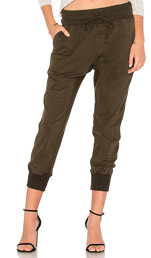 James Perse Contrast Sweatpant in Army