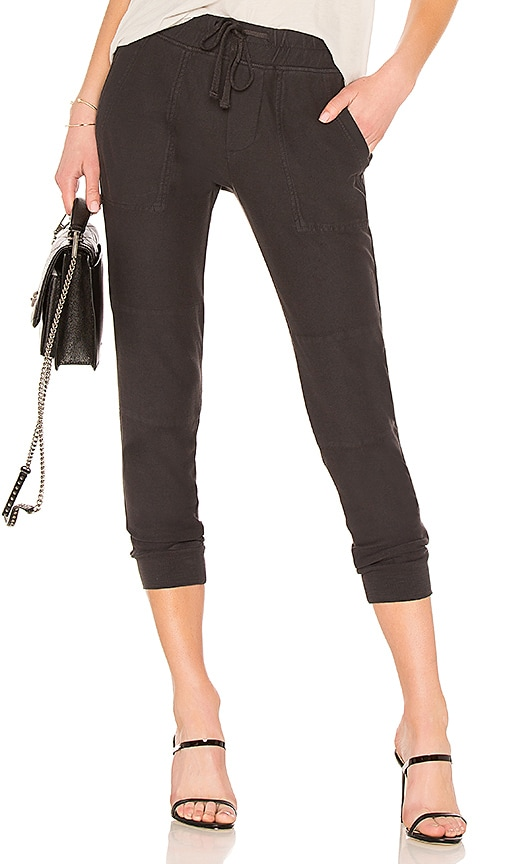 James Perse Knit Twill Pant in Charcoal