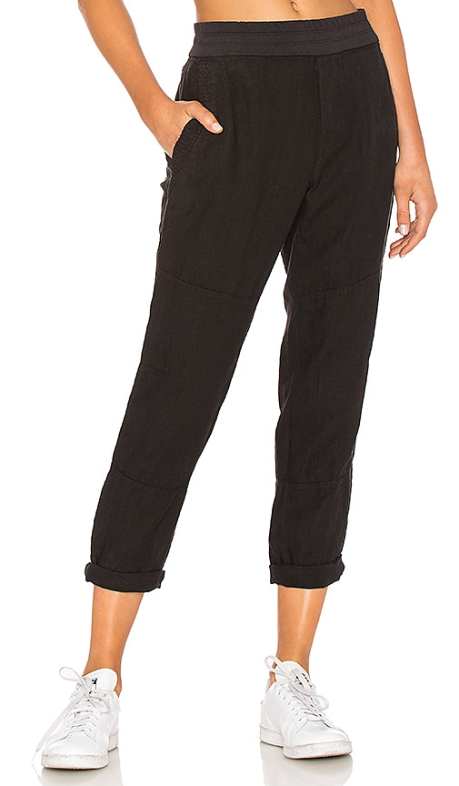 James Perse Patched Pull On Pant in Black