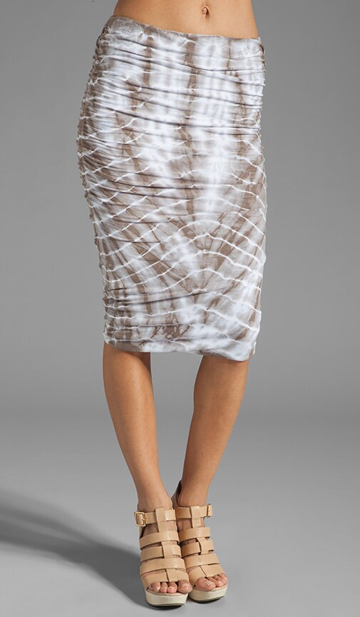 Tie Dye Ruched Pencil Skirt