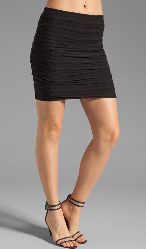 Shadow Stripe Mini Skirt