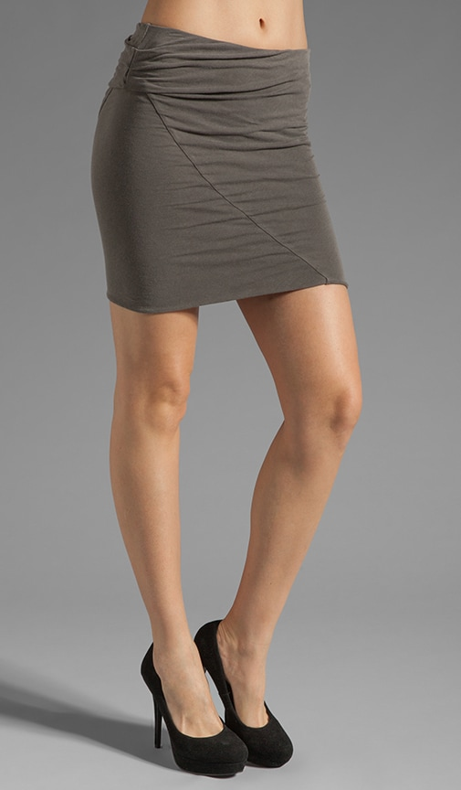 Asymmetrical Tuck Skirt