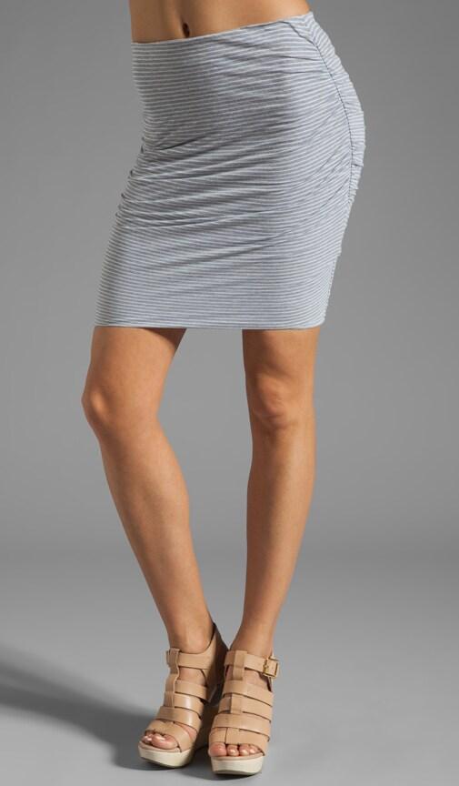 Split Back Stripe Skirt