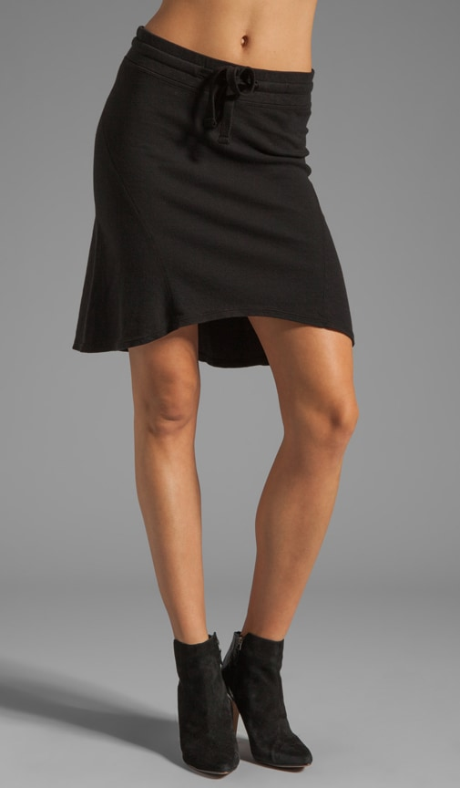 Seamed Scuffed Skirt