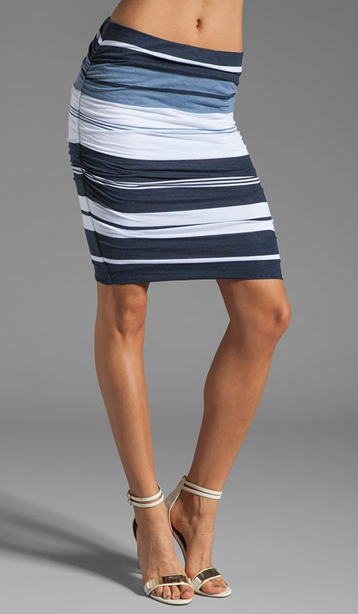 Pacific Stripe Pencil Skirt