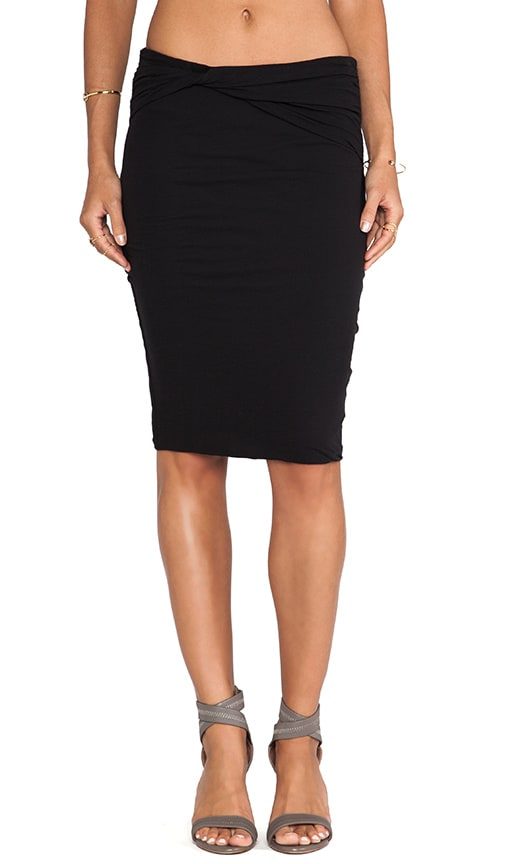 High Gauge Jersey Twisted Skirt