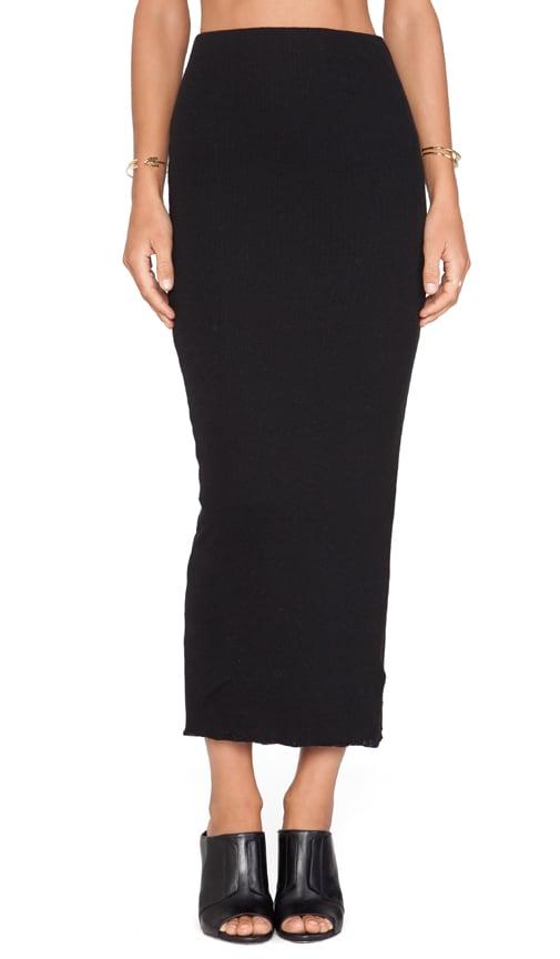 ebe2f9f69e9460 James Perse Long Cashmere Rib Skirt in Black | REVOLVE