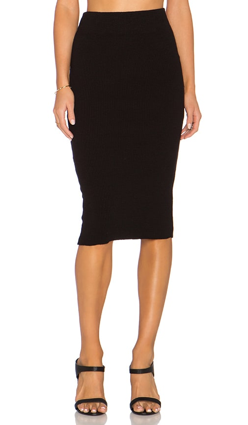 Heavy Rib Skinny Skirt