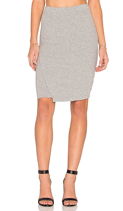 James Perse Tuck Wrap Skirt in Gray