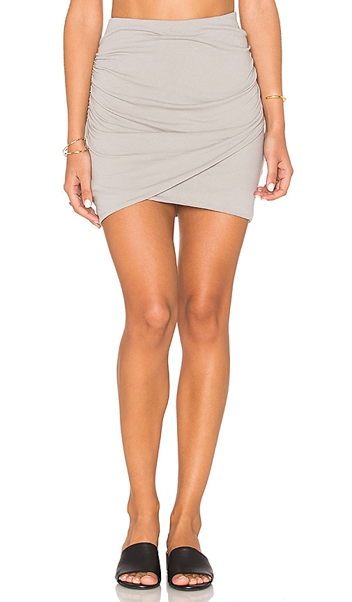 James Perse Wrap Skinny Skirt in Gray