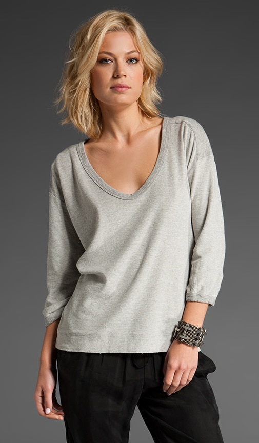 Scoop Sweatshirt Top