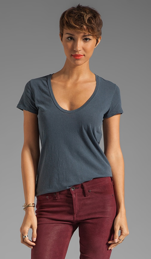 Short Sleeve Casual Scoop Tee