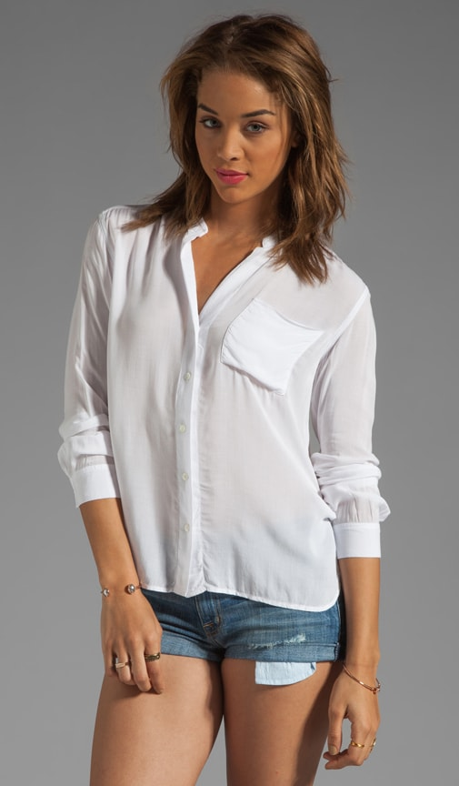 Collarless Pocket Shirt