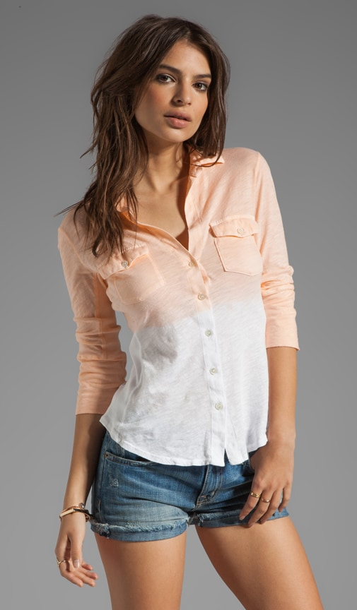 Dip Dye Soft Paneled Shirt